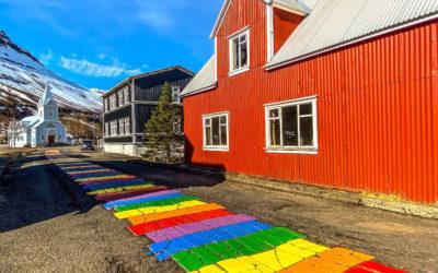 Seyðisfjörður and the rainbow street