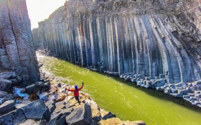 Stuðlagil basalt Canyon